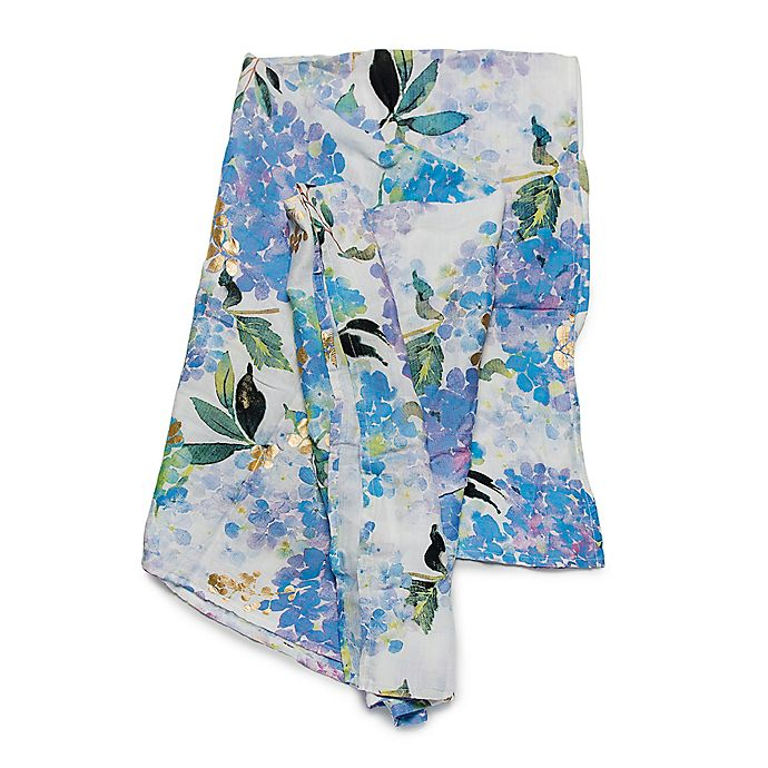 Alternate image 1 for Loulou Lollipop Hydrangea Muslin Swaddle Blanket