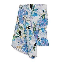Loulou Lollipop Hydrangea Muslin Swaddle Blanket