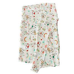 Loulou Lollipop Llama Muslin Swaddle Blanket
