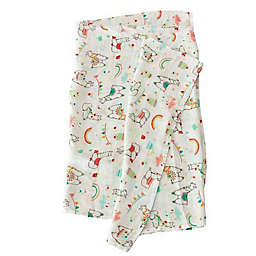 Loulou Lollipop Llama Muslin Swaddle Blanket