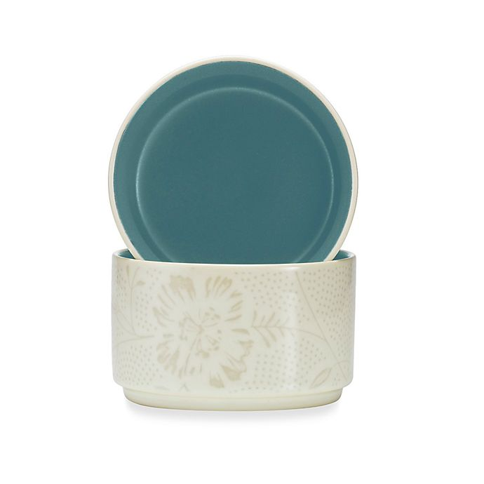 Alternate image 1 for Noritake® Colorwave Bloom Stacking Bowls in Turquoise (Set of 2)