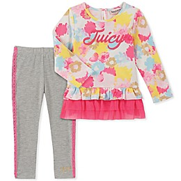 Juicy Couture® 2-Piece Floral Top and Legging Set