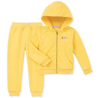 Juicy Couture® 2-Piece Terry Jacket and Jogger Set in Yellow