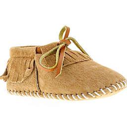 Lamo® Baby Fringe Moccasin Slippers in Chestnut