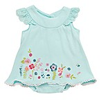 Baby Starters® Size 6M 2-Piece Spring Blossom Swing Top and Diaper Cover in Mint
