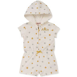 Juicy Couture® Star Hooded Romper in Cream
