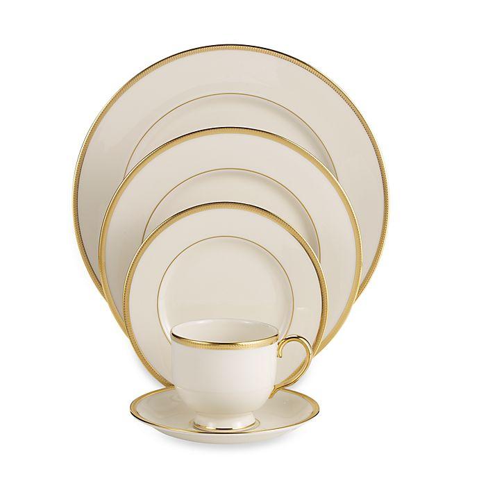 Alternate image 1 for Lenox® Tuxedo™ Gold Dinnerware Collection