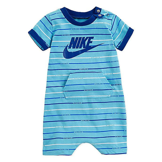 Alternate image 1 for Nike® Sportswear Size 3-6M Allover Print Romper in Blue