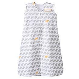 HALO® SleepSack® Medium Allover Elephant Print Cotton Wearable Blanket in Grey