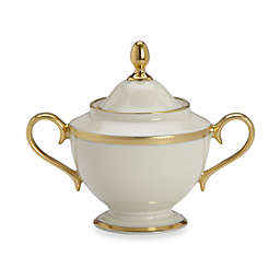 Lenox® Tuxedo™ Gold Covered Sugar Bowl