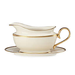 Lenox® Tuxedo™ Gold Sauce Boat with Stand