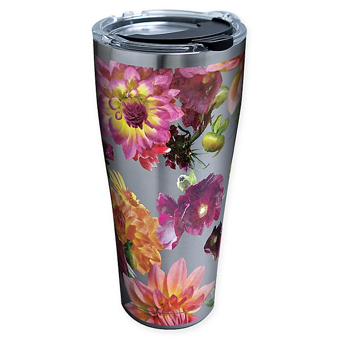 Alternate image 1 for Tervis® Romantic Floral 30 oz. Stainless Steel Tumbler with Lid