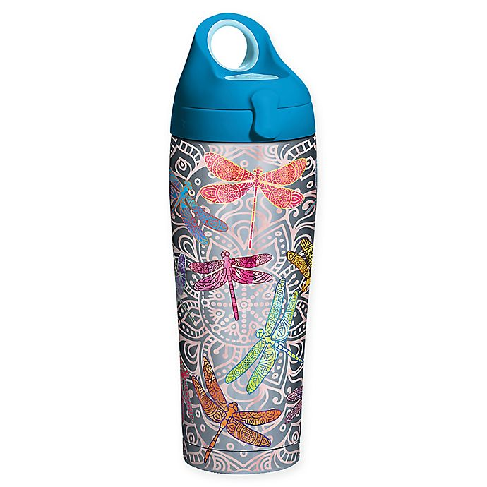 Alternate image 1 for Tervis® SIC® Dragonfly Mandala Stainless Steel 24 oz. Water Bottle with Lid