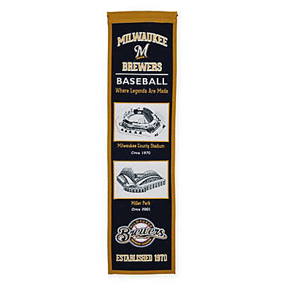 MLB Milwaukee Brewers Stadium Evolution Banner