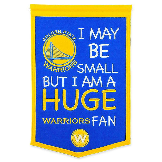 Alternate image 1 for NBA Golden State Warriors Lil Fan Traditions Banner