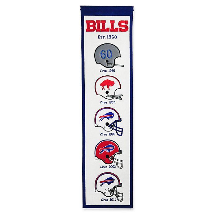 Alternate image 1 for NFL Buffalo Bills Evolution of Logos Banner