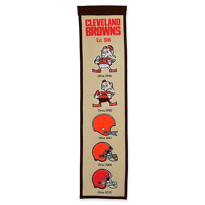 Alternate image 1 for NFL Cleveland Browns Evolution of Logos Banner