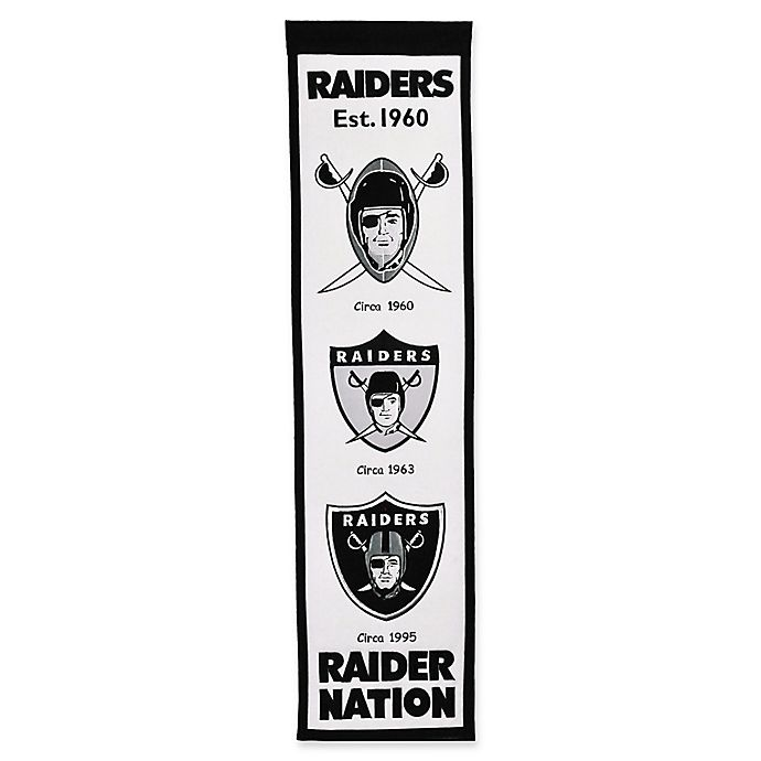 Nfl Las Vegas Raiders Evolution Of Logos Banner Bed Bath Beyond