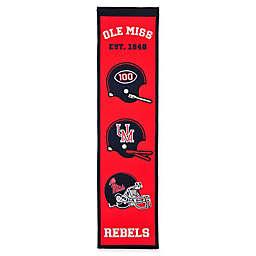 University of Mississippi Evolution of Logos Banner