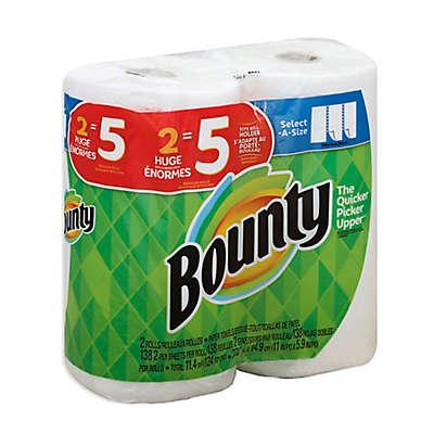 Bounty 2-Pack Huge Rolls Paper Towels