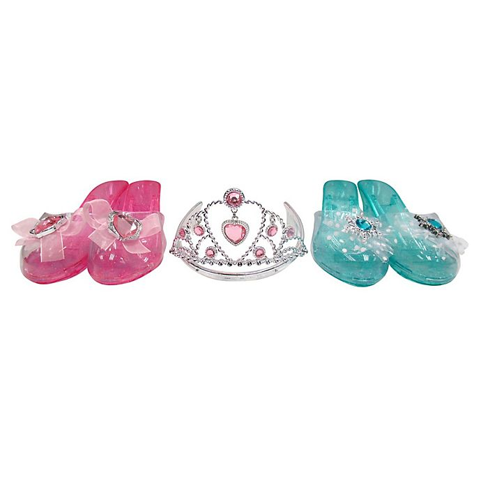 Alternate image 1 for Lucky Toys 3-Piece Tiara and Shoes Dress-Up Set