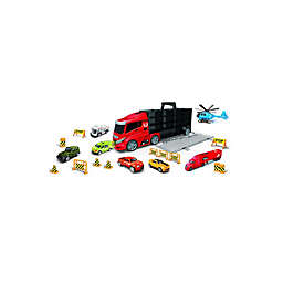 Lucky Toys 20-Piece Truck Carry Case and Vehicles Play Set
