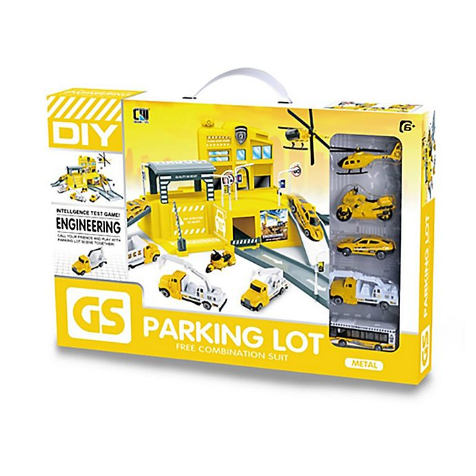 Alternate image 1 for Lucky Toys 25-Piece Construction Parking Lot Play Set