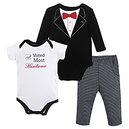 Little Treasure 3-Piece Tuxedo Bodysuits and Pant Set