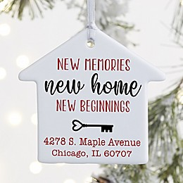 New Memories, New Home Personalized Ornament