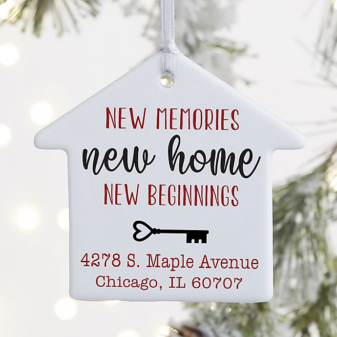 Alternate image 1 for 1-Sided New Memories, New Home Personalized Ornament