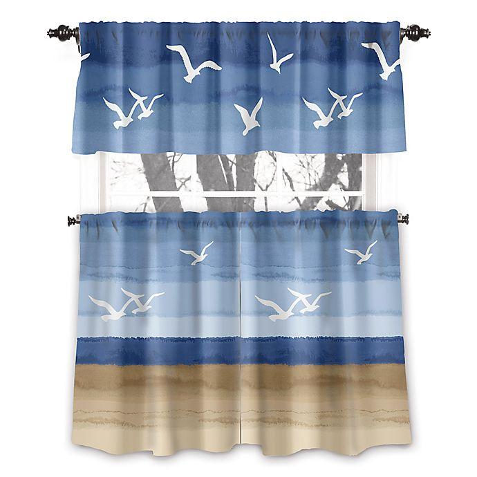 Alternate image 1 for Avanti Seagulls 45-Inch Rod Pocket Window Curtain Panel