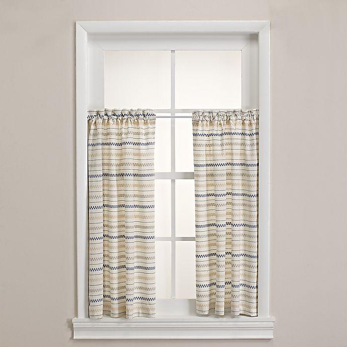 Alternate image 1 for Homewear Linens Corsica Window Curtain Pair in Indigo