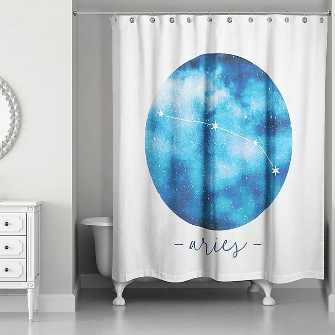 Designs Direct Zodiac Sign Constellation Shower Curtain Collection