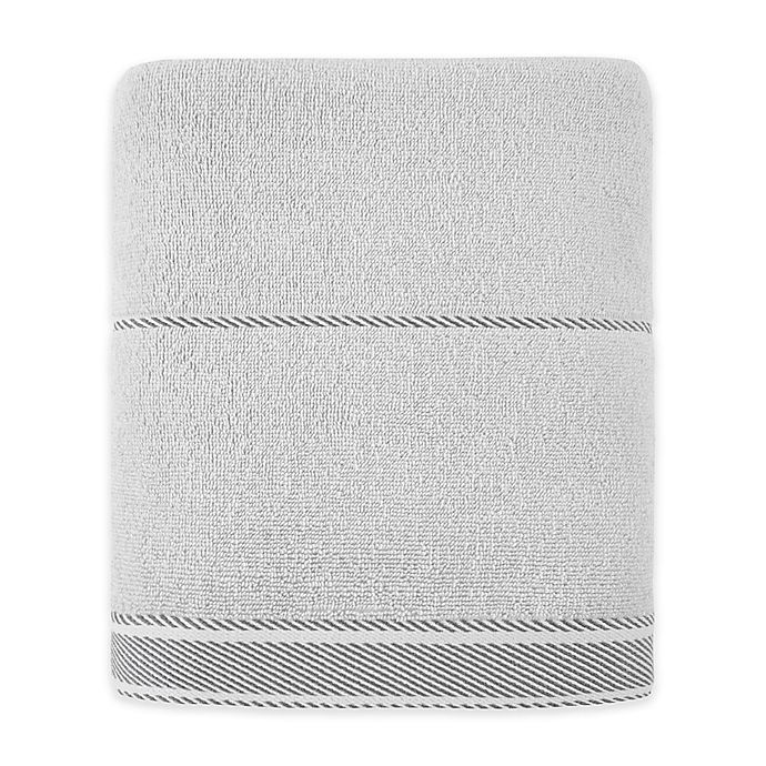 Alternate image 1 for Bee & Willow™ Home Midsomer Striped Bath Towel in Grey