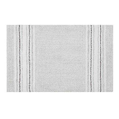 """Bee & Willow™ Home Midsomer 20"""" x 30"""" Striped Bath Rug in Grey"""