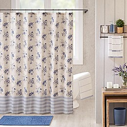 Bee & Willow™ Home Clearwell Shower Curtain in Blue