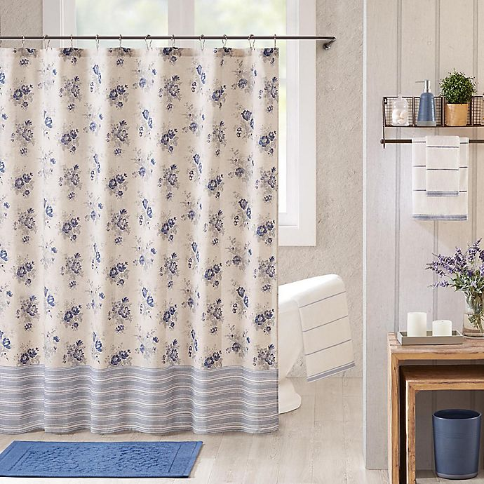 Alternate image 1 for Bee & Willow™ Home Clearwell Shower Curtain in Blue