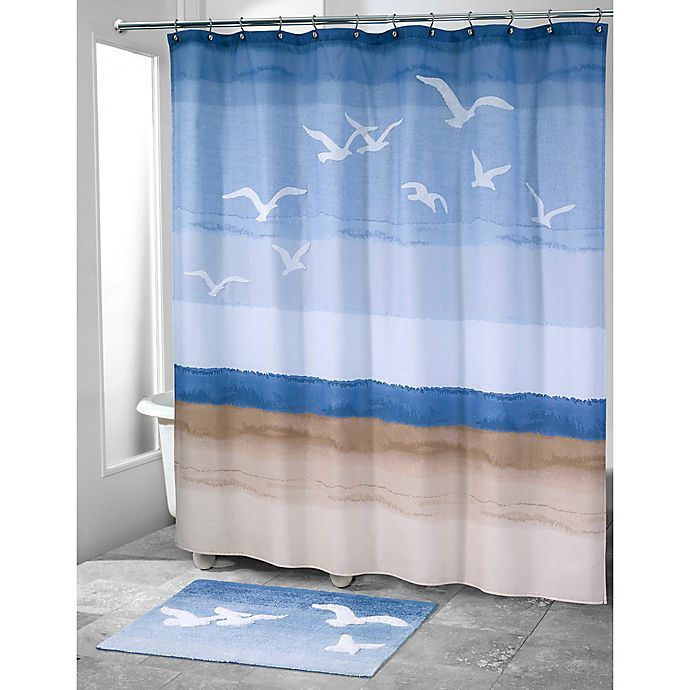 Alternate image 1 for Avanti Seagulls Stall 72-Inch x 96-Inch Shower Curtain