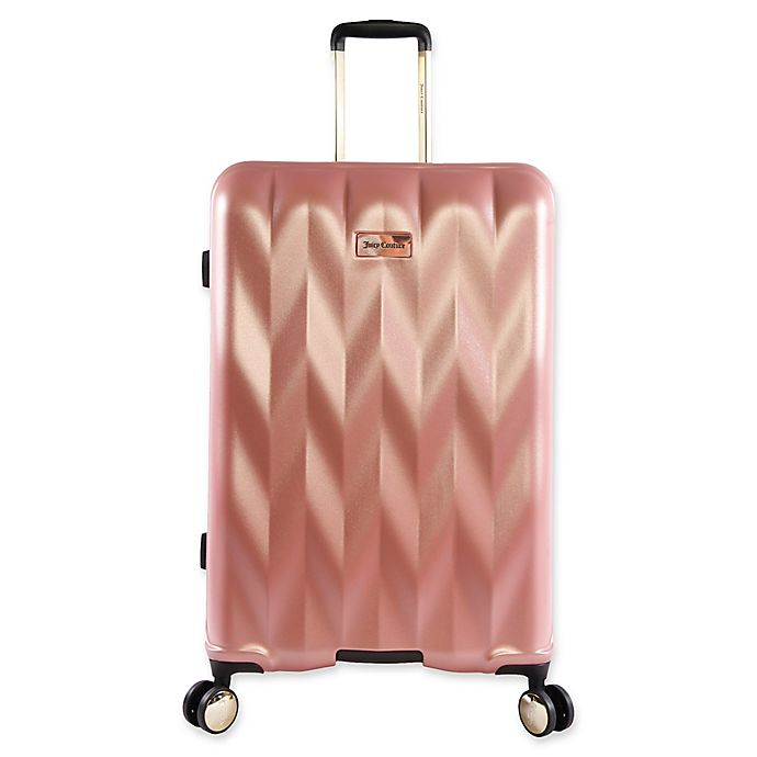 d16c57e7a Juicy Couture® Grace 29-Inch Spinner Suitcase in Rose Gold | Bed ...