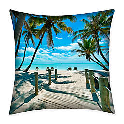Destination Summer Key West Multicolor Indoor/Outdoor Square Throw Pillow