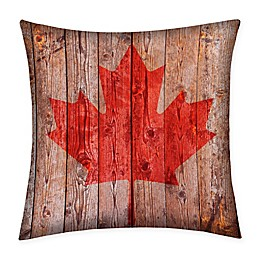 Destination Summer Maple Leaf Multicolor Indoor/Outdoor Square Throw Pillow