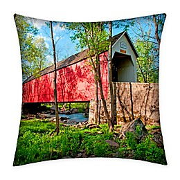 Destination Summer Sheard's Mill Bridge Indoor/Outdoor Square Throw Pillow