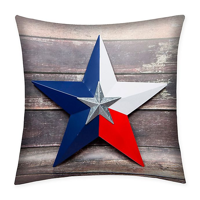Alternate image 1 for Destination Summer Texas Star Indoor/Outdoor Square Throw Pillow