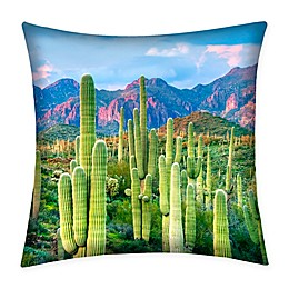 Destination Summer Cactus Indoor/Outdoor Square Throw Pillow