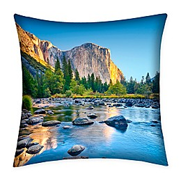 Destination Summer Yosemite Indoor/Outdoor Square Throw Pillow