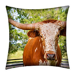Destination Summer Cattle Indoor/Outdoor Square Throw Pillow
