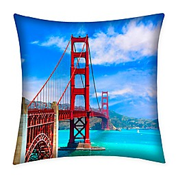 Destination Summer Golden Gate Bridge Indoor/Outdoor Square Throw Pillow