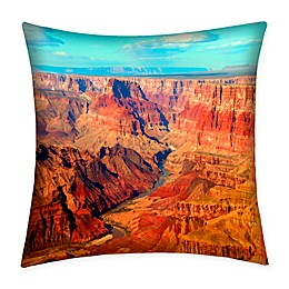 Destination Summer Grand Canyon Indoor/Outdoor Square Throw Pillow