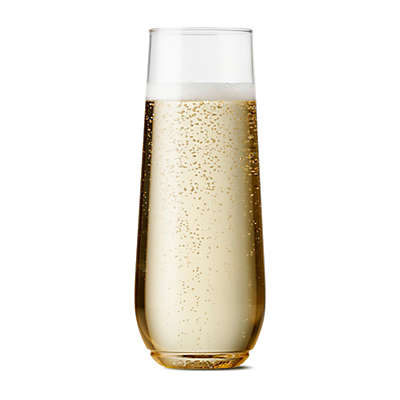 TOSSWARE™ Unbreakable 9 oz. Stemless Plastic Champagne Flutes (Set of 12)