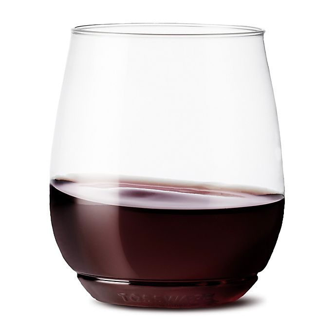 2549acfd581 TOSSWARE™ Unbreakable 14 oz. Stemless Plastic Wine Glasses | Bed ...